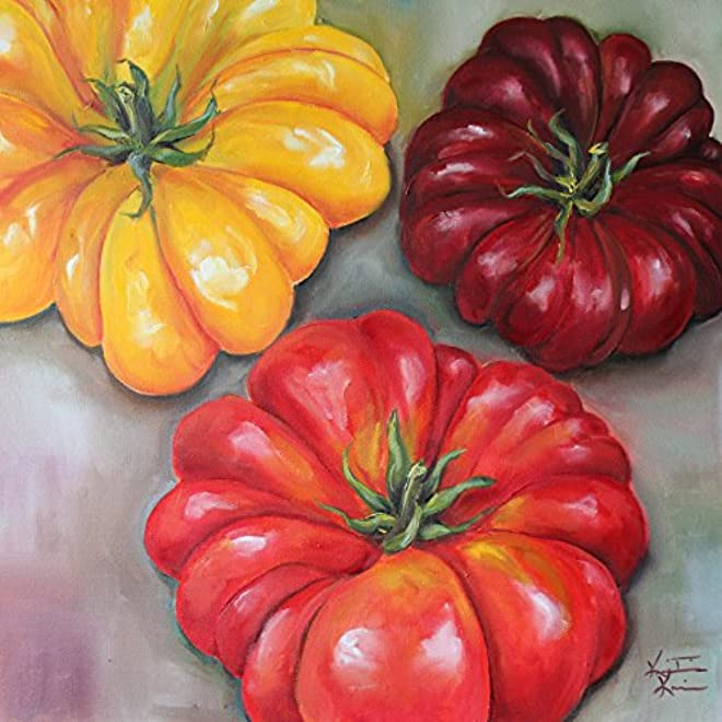 Heirloom Tomatoes by by Kristine Kainer
