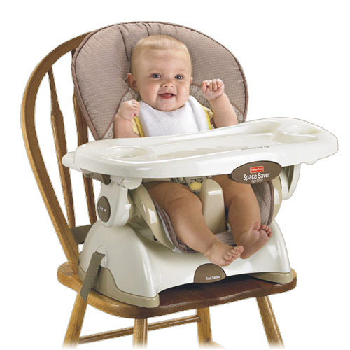 Fisher Price Space Saver High Chair Tan Childrens Highchairs