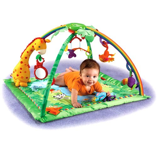 Tummy Time Play With Five Linkable Toys That Can Be
