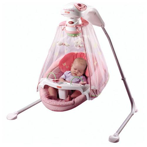 Fisher price papasan cradle swing butterfly for Baby garden swing amazon