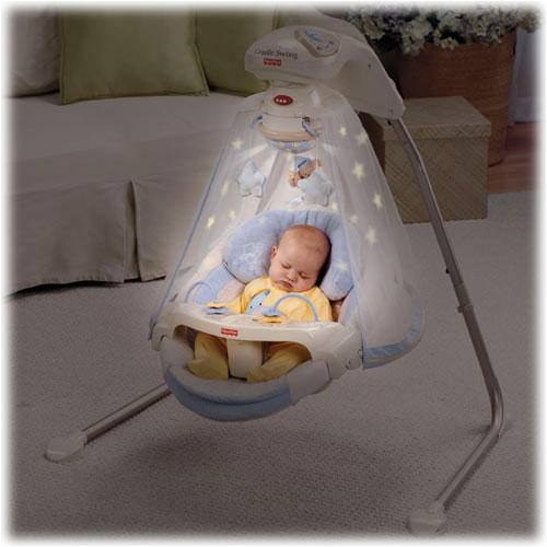 Amazon.com : Fisher-Price Papasan Cradle Swing, Starlight ...