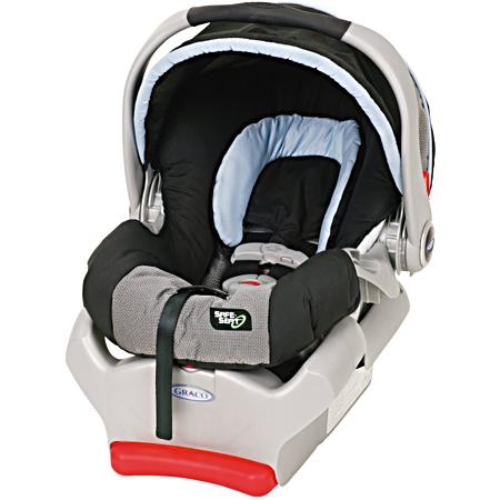 The SafeSeat Car Seat doubles as an infant carrier. View larger.