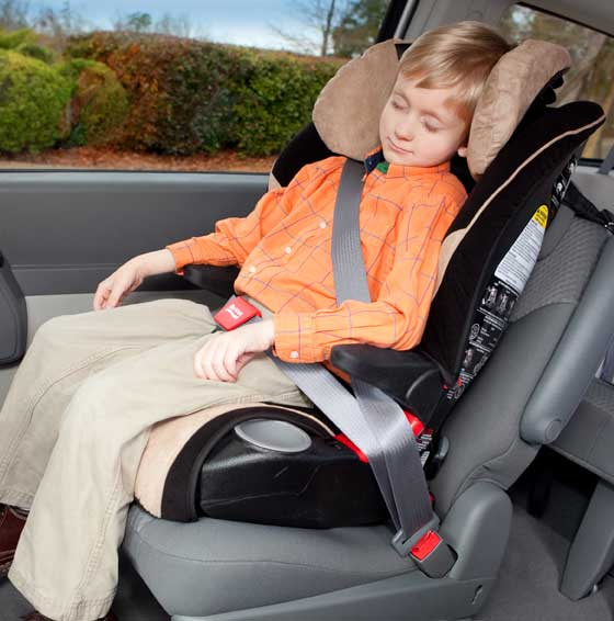 When used in booster mode, the Frontier 85 is compatible with the Britax