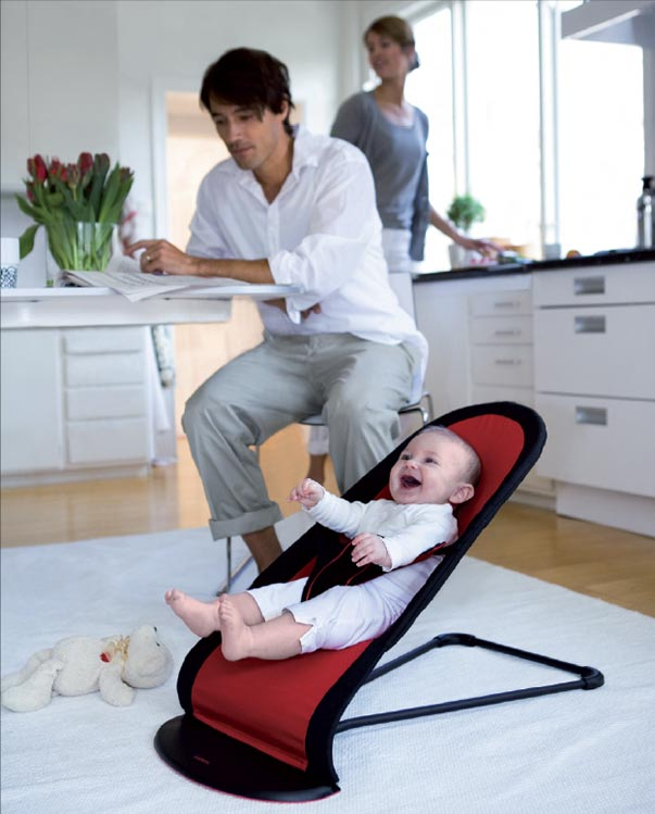 Amazon.com : Babybjorn BabySitter Balance, Black/Red : Infant Bouncers