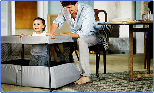 Amazon Com Babybjorn Travel Crib Light Silver Discontinued By Manufacturer Baby