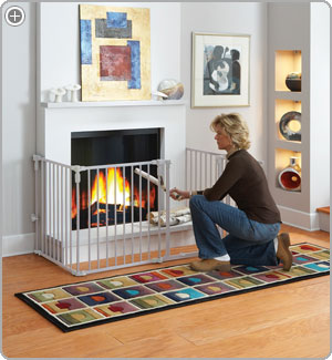Childproof fireplace screen
