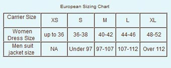 Baby K'tan Baby Carrier UK Size Chart