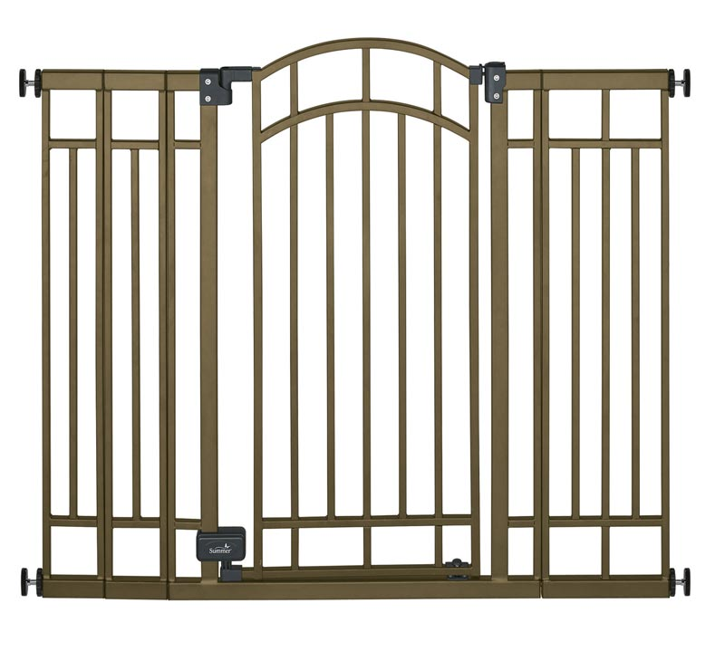 ... Deco Extra Tall Walk-Thru Gate, Bronze : Indoor Safety Gates : Baby