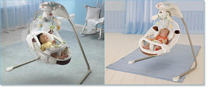 Fisher Price My Little Lamb Cradle 'n Swing Lifestyle Shot