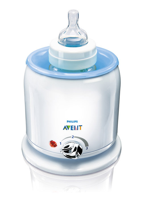 The AVENT Classic Bottle/Food Warmer heats 4 ounces of milk in four