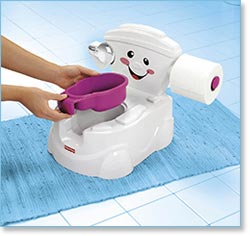 Fisher Price Cheer For Me! Potty - Nook-free bowl for easy cleanup