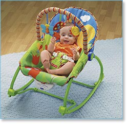 Fisher Price Infant to Toddler Rocker, Blue/Green Lifestyle Shot