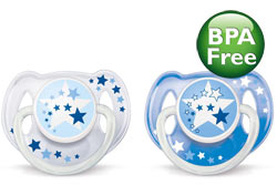 Philips AVENT SCF176/18 Nighttime Infant Pacifier, 0-6 Months, BPA Free, 2-pack, Colors May Vary Product Shot