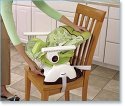 Fisher Price Space Saver High Chair, Scatterbug Lifestyle Shot