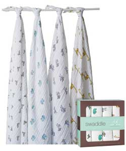 aden + anais classic muslin swaddles (Four Pack) Product Shot