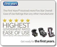 The First Years - True Fit Premiere- C670 Convertible Car Seat, Retro Geo-black