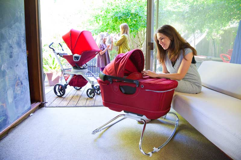 Baby Bassinet Cradle G2, Ruby (Discontinued by Manufacturer) : Baby