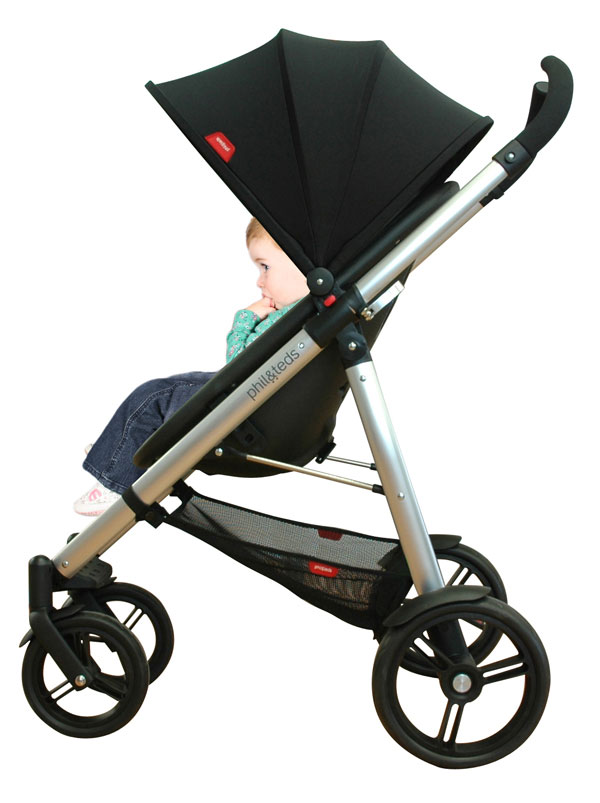phil&teds Smart Buggy Compact Stroller, Black (Discontinued by