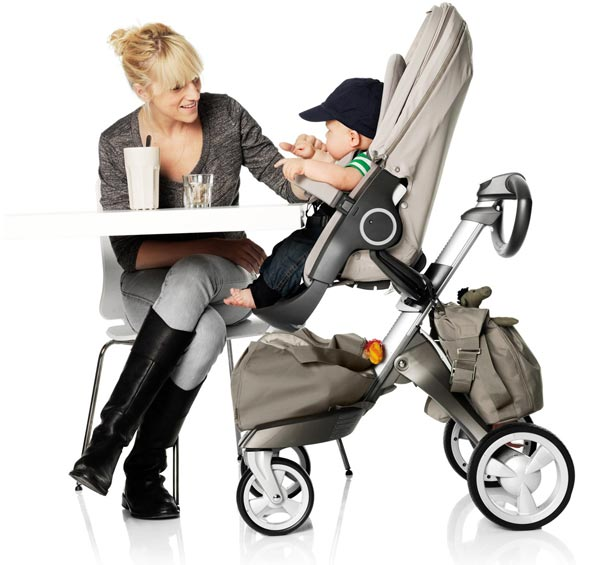 Attractive, urban stroller offers multi-position recline options. View