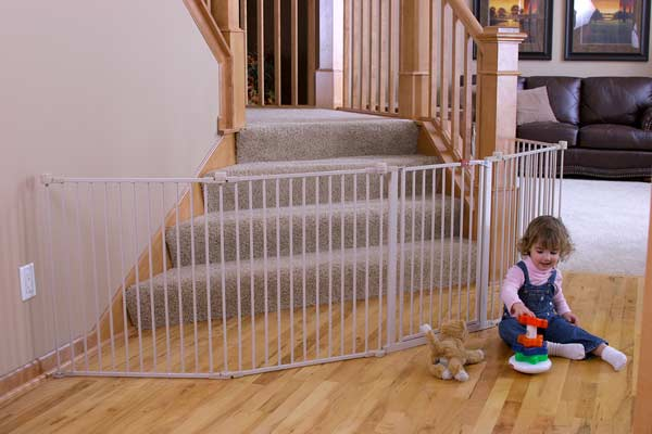 ... Wide Gate and Play Yard, 192-Inch, White : Indoor Safety Gates : Baby