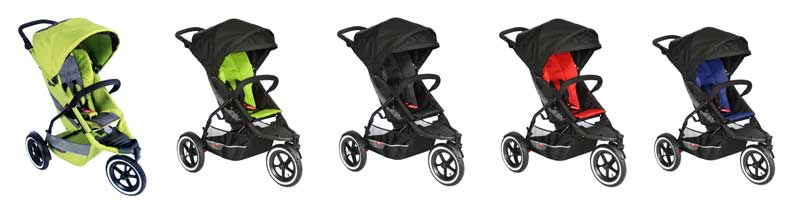 Explorer Inline Stroller (All Apple) Lifestyle Image