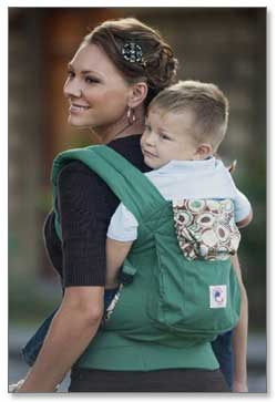 Ergobaby Organic Collection Baby Carrier (Green River Rock) Product Shot