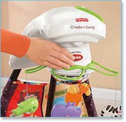 Fisher Price Love U Zoo Cradle Swing - Easy conversion to cradle or swing