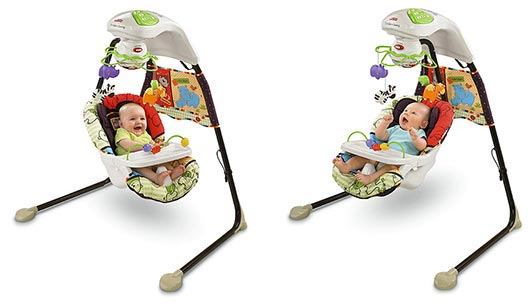 Fisher Price Love U Zoo Cradle Swing Lifestyle Shot