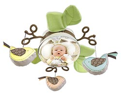 Fisher Price My Little Snugabunny Cradle 'n Swing - A fun globe mirror in the center of the mobile