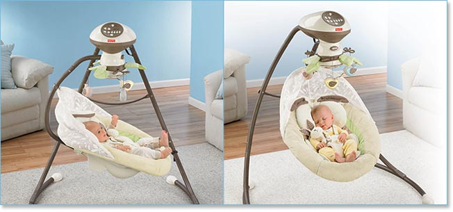 Fisher Price My Little Snugabunny Cradle 'n Swing Lifestyle Shot