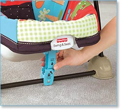 Fisher Price Love U Zoo Spacesaver Swing and Seat - Stationary positioner
