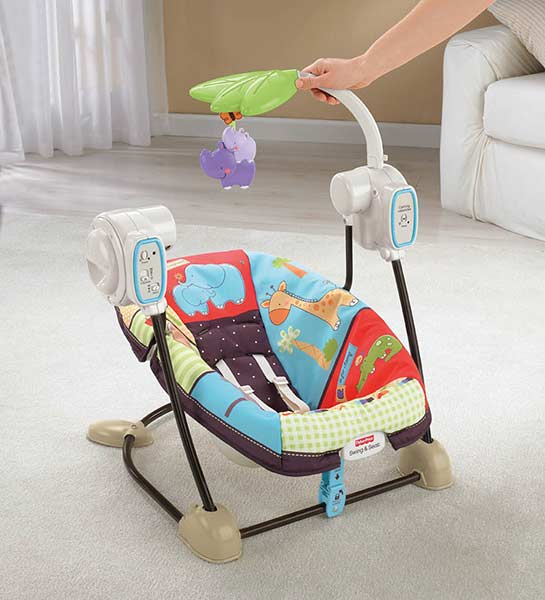 Fisher Price Space Saver Swing And Seat Luv U Zoo Stationary Baby Swings Baby