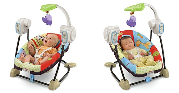 Fisher Price Love U Zoo Spacesaver Swing and Seat Lifestyle Shot
