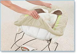 Fisher Price My Little Snugabunny Bouncer - Lightweight and portable with sturdy base