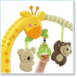Fisher Price Love U Zoo Playtime Bouncer - Colorful toy bar