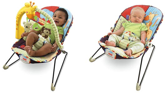 Fisher Price Love U Zoo Playtime Bouncer Lifestyle Shot