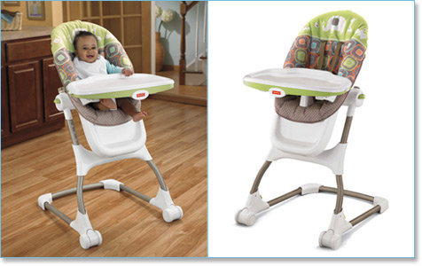 Fisher-Price EZ Clean High Chair Lifestyel Shot