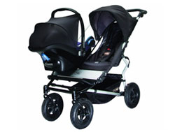 Mountain Buggy duet Double Buggy Stroller, Black/Flint Product Shot