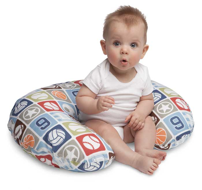 Amazon.com : Boppy Pillow with Slipcover, Sports Star : Breast