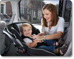 BRITAX B-SAFE Infant Car Seat, Black Lifestyle Shot