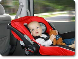 BRITAX B-SAFE Infant Car Seat, Red Lifestyle Shot