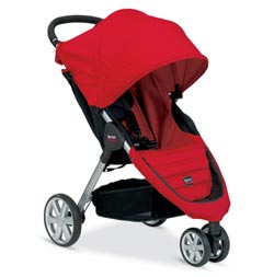 BRITAX B-AGILE Stroller, Red Product Shot
