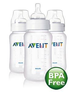 Philips AVENT SCF686/37 Classic Bottle 11 oz, BPA Free, 3-Pack Product Shot