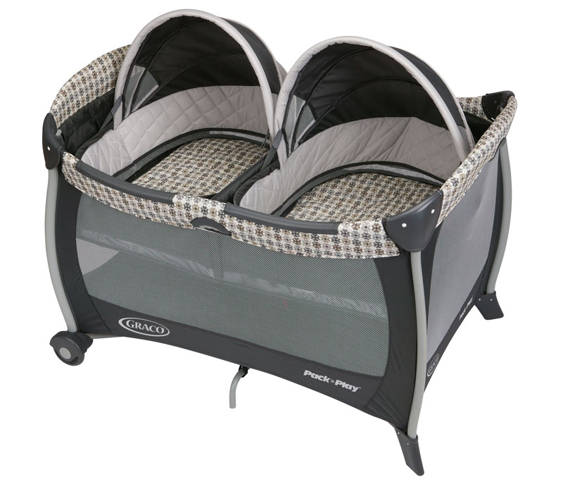 Graco Modern Vance Double Travel Twins Bassinet Crib
