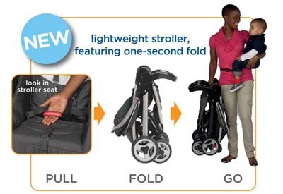 Graco FastAction Fold Travel System, Forecaster Product Shot
