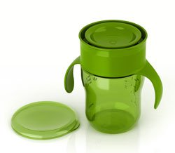 The Natural Drinking Cup 9oz Single, Green Product Shot