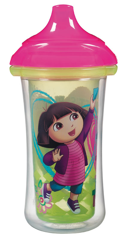 Munchkin Dora the Explorer Click Lock Insulated Sippy Cup, 9 Ounce