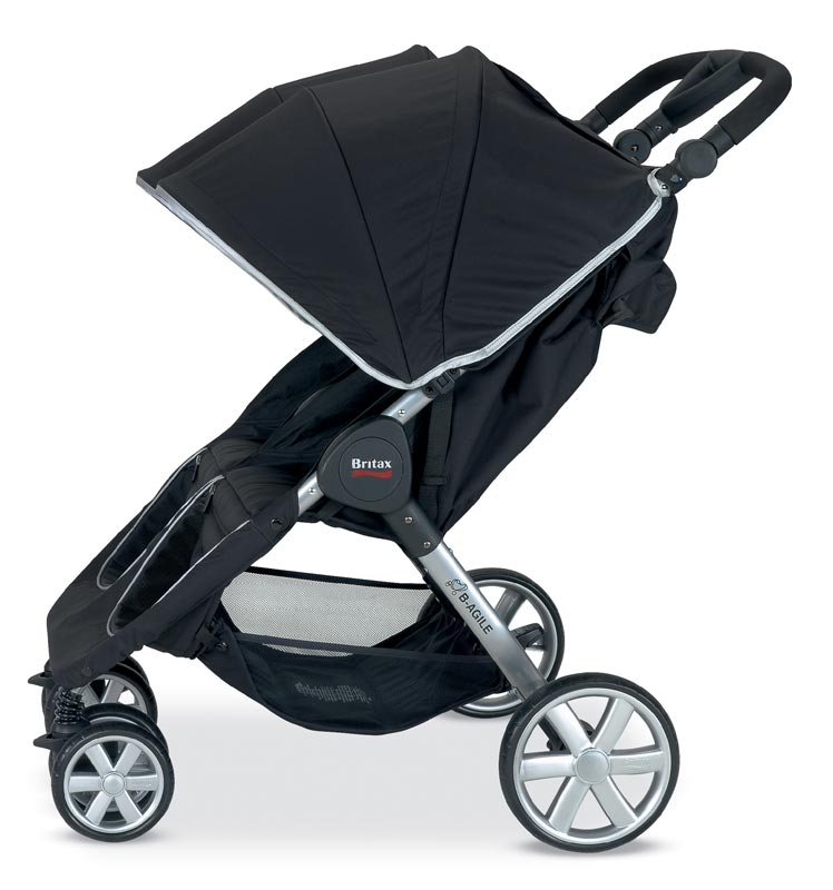 britax b agile double stroller black strollers car seats. Black Bedroom Furniture Sets. Home Design Ideas