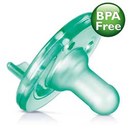 Philips AVENT Soothie Pacifier, Green, 0- 3 Months, 2 Pack Product Shot