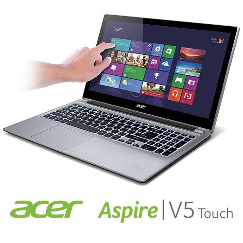 Acer Aspire V5-571PG Laptop, Intel Core i7 2.0GHz, 8GB RAM, 1TB, 15.6inch Nvidia GT 710M 1GB Graphics - Touch Screen, Silver
